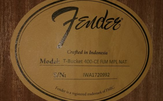 FENDER T-BUCKET 400CE FLM NATURAL