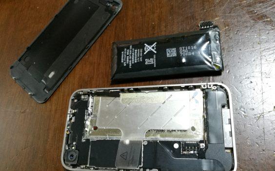 iphone4s用のバッテリーをiphone4に(^^ゞ